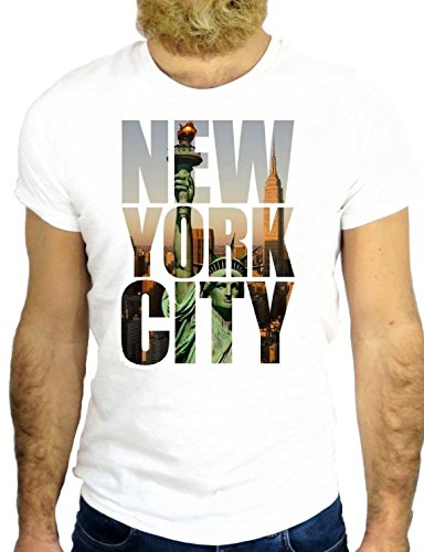 T SHIRT JODE Z2696 NEW YORK CITY USA AMERICA NICE VINTAGE UNION SQUARE LIBERTY GGG24 BIANCA - WHITE M