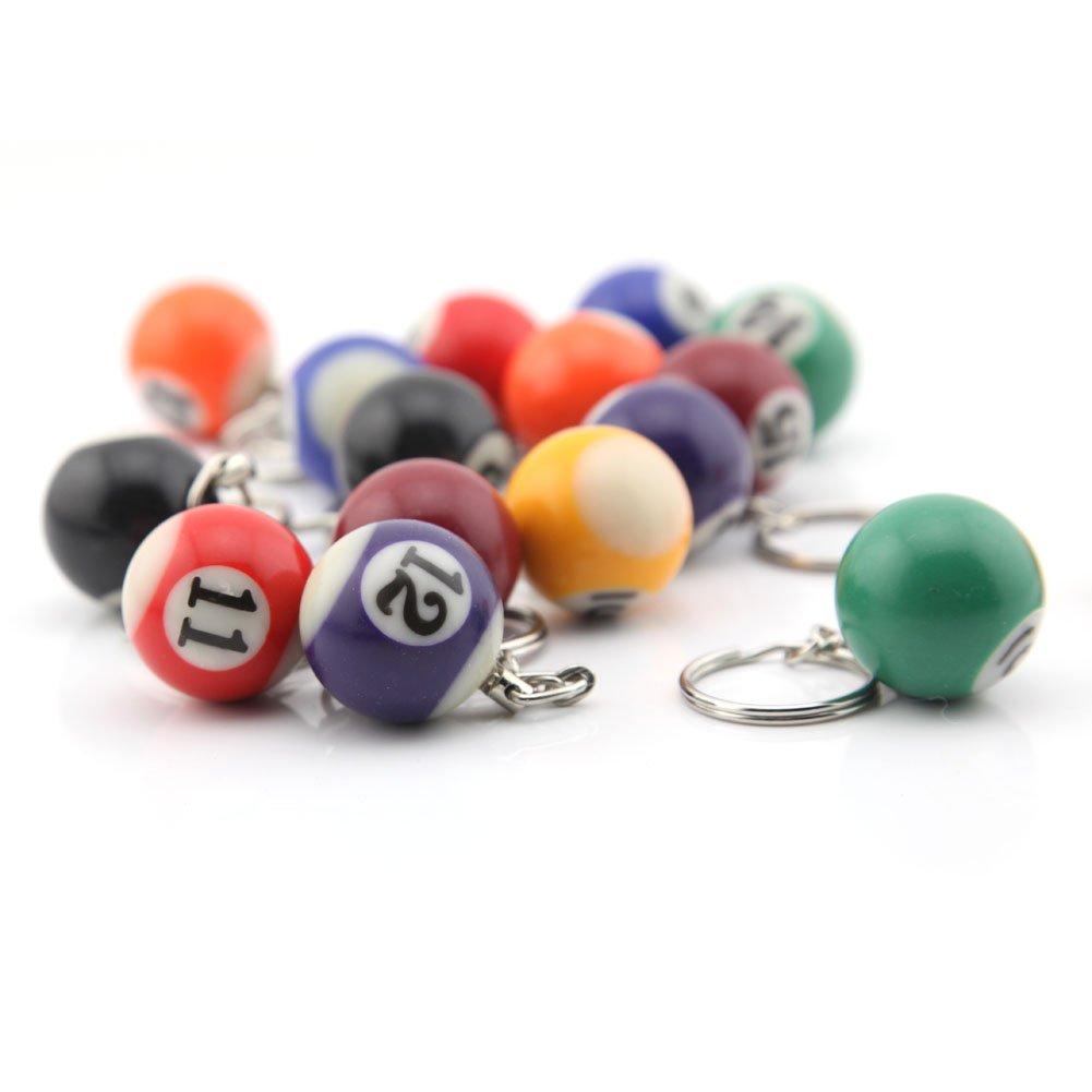 Amazon.com: 16 Assorted Colorful Billar de bolas de billar ...