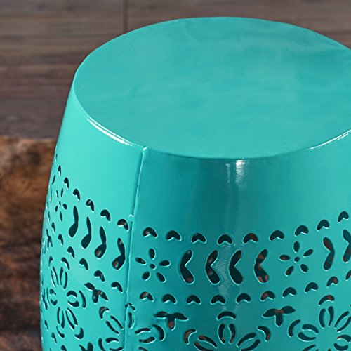 Apple Valley Lace Cut Teal Iron Accent Table by Great Deal Furniture (Image #2)