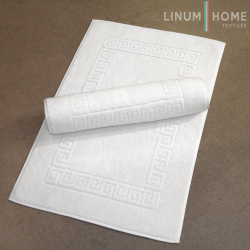 Linum Home Textiles Greek Key Bath Mats, Set of 2
