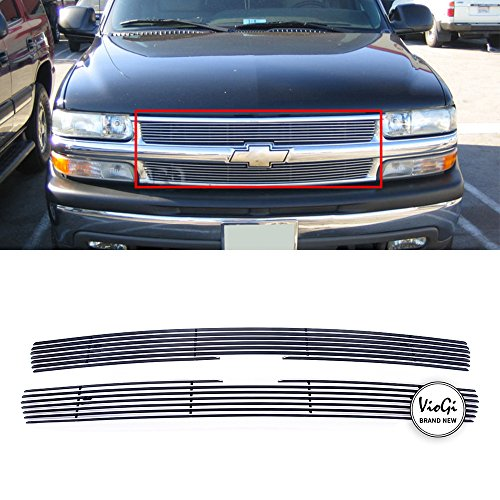 - VioGi New 2pcs Overlay Main Upper Aluminum Polished Billet Grille w/Hardware+Instruction For Chevy 99-02 Silverado 1500/2500 Light Duty & 00-06 Suburban 1500/2500 & 00-06 Tahoe