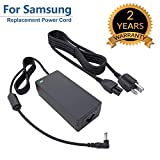 For Samsung 19V LCD LED HDTV TV Plasma DLP Monitor Power Cord Charger Replacement Adapter Supply for A4819-FDY UN32J UN22H 22' 32' BN44-00837A A6619_FSM, HW-M360, HW-M360/ZA Soundbar, 19V AC DC 8.5Ft.