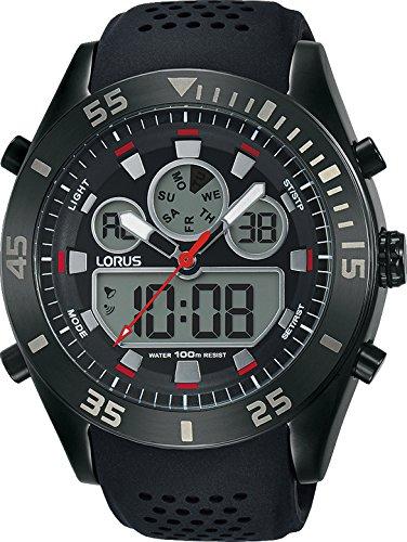 Lorus Reloj Digital para Hombre de Cuarzo con Correa en Silicona R2335LX9: Amazon.es: Relojes