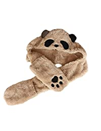 Novelty Panda Hat Adults Kids Baby Boys Girls Scarf Gloves Winter Parent-Child Hat