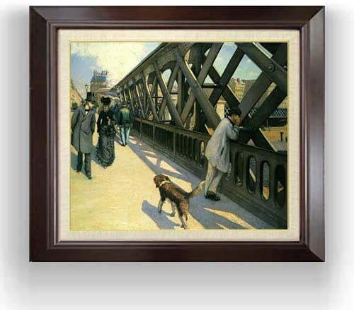 カイユボット ヨーロッパ橋 F10 油絵直筆仕上げ| 絵画 10号 複製画 ブラウン額縁 675×601mm