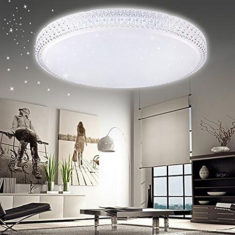 Vingo® Led 60W Starlight-Effekt Kristall Deckenlampe Wohnzimmer