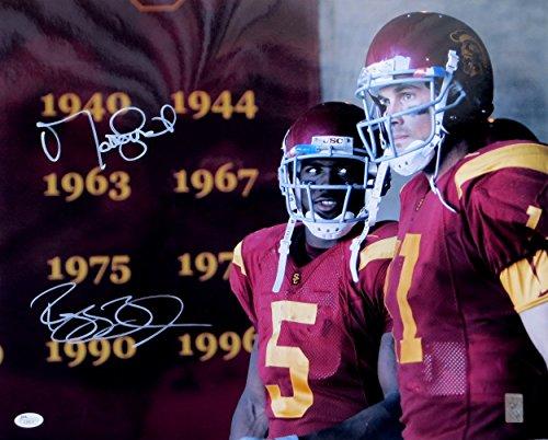 Matt Leinart Reggie Bush Dual Signed Autographed 16X20 Photo USC Trojans JSA (Reggie Bush Jersey Replica)