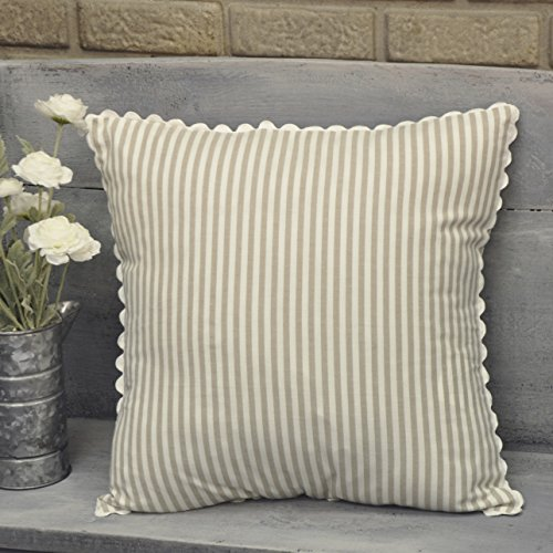 Piper Classics Farmhouse Ticking Stripe Taupe Throw Pillow Cover, 18