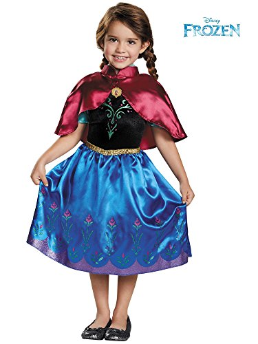 Anna Traveling Toddler Classic Costume, Medium (3T-4T) -