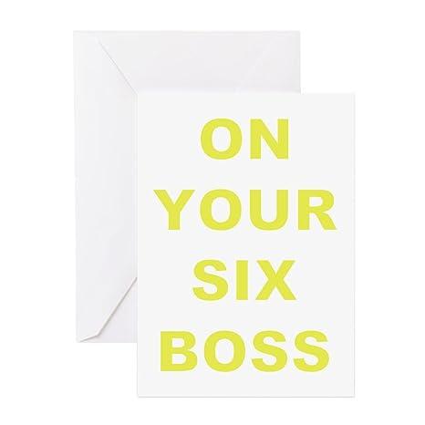 Amazon.com: CafePress – en su tarjeta de seis jefe – Tarjeta ...