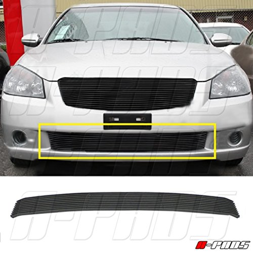 A-PADS BLACK REPLACEMENT BILLET GRILLE/GRILL INSERT For 2005 2006 NISSAN ALTIMA BUMPER (NOT FOR SER MODEL) 1PC