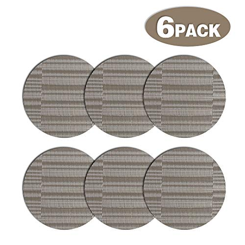 CESHMD Wipe Clean Premium Placemats, Set of 6, Placemats, Washable, Suitable for Kitchen, Family, Dining Room Coasters Set of 6