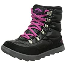 The North Face Thermoball Lace Boot Womens Shiny TNF Black/Luminous Pink 5
