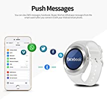 Amazon.com: SEPVER Smart Watch Round Bluetooth Smartwatch ...