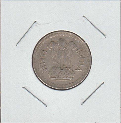 1975 IN Asoka Lion Pedistal Half Dollar Choice Fine Details (Lion Dollar Coin)