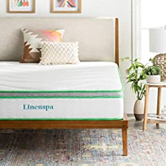 The new LINENSPA 10 Inch Latex Hybrid Mattress offers that just right medium firm feel you have been looking for, and is perfect for back or stomach sleepers. With four layers of foam and latex, this mattress is responsive, supportive, and co...
