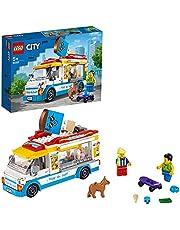 LEGO 60253 City Great Vehicles Glassbil, Byggsats med Leksaksbil och Hund Minifigur för Barn 5+ år