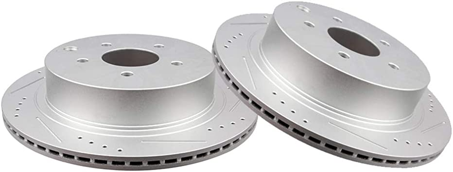 Fits FX35 M37 M56 Quest Murano Pathfinder Quest Rear Brake Rotors  Ceramic Pads