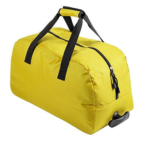 Ruedas Con Bolsa De Cabina 2 Viaje amarillo Equipaje Apta Trolley 4RWXwqA