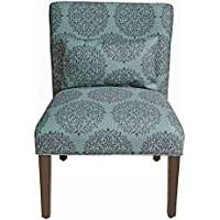 HomePop Parker Accent Chair with Pillow (Teal)