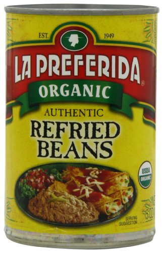 La Preferida Organic Refried Beans, 15 Ounce (Pack of (La Preferida Refried Beans)
