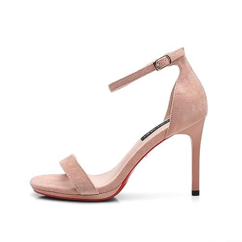 verano Aguja De una Tacones Zapatos Señora Banda Sandalias 29WEDHI