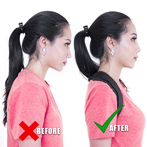 Posture Corrector For Women And Men Free Neck Brace Premium Quality,Brace Thoracic Kyphosis,Adjustable Correct Brace,Shoulder Brace,Lower And Upper Back Pain Relief,COMFORTABLE EASY TO WEAR