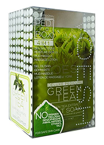 Voesh Mani.Pedi-Cure System in a Box Treatment Kit, Green Tea, 11 Ounce