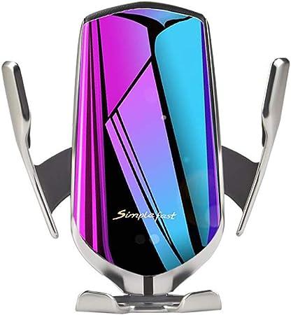 Wireless Charger Auto Handy Halterung Für Auto Magnet Kabelloses Autoladegerät Automatische Induktion Für Samsung Iphone 8 Xs Xr X Silver Auto