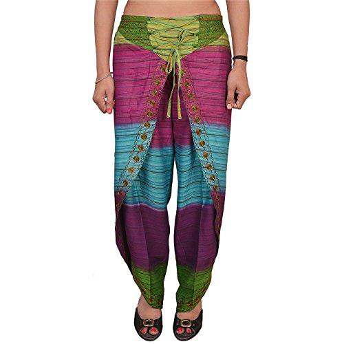 SNS Pure algodón Aladdin harén Dhoti Pantalón Multi 124