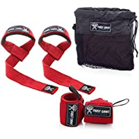Weightlifting Wrist Wraps & Lifting Straps Combo By Frost...