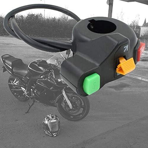 noir Moto v/élo scooter 7//8commutateur klaxon clignotants allumer///éteindre la lumi/ère conception /étanche protection multiple