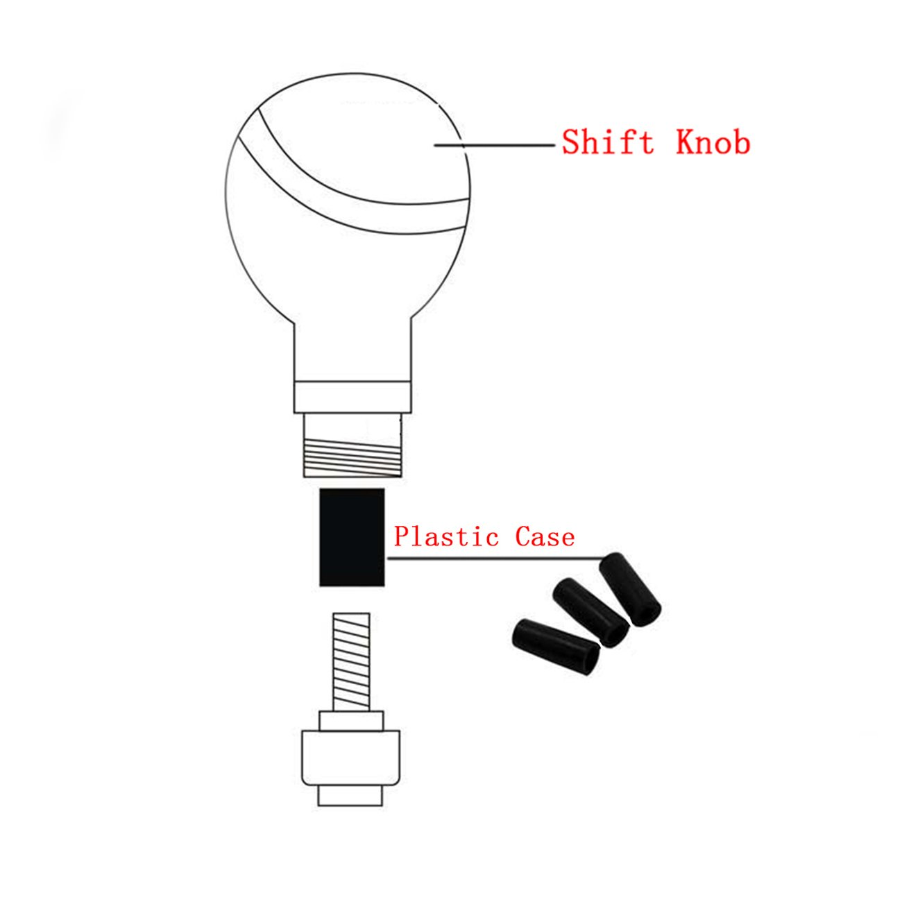 Multicolour Bashineng Metal Alloy Car Gear Shift Extension Universal Stick Shifter Knob Head for Most Manual Vehicle