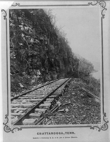 Photo: Nashville,Chattanooga Railroad tracks,Lookout Mountain