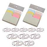 D-worthy 2 Pack Divider Sticky Notes Index Tabs