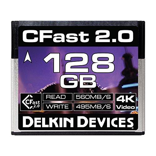 - Delkin 128GB Cinema CFast 2.0 Memory Card (DDCFST560128)