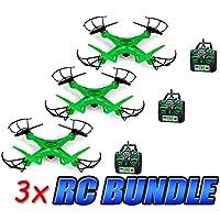 Striker Glow-In-The-Dark 2.4GHz 4.5CH Camera RC Spy Drone 3-Pack Bundle