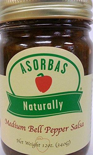 All Natural Salsa 2 PACK -Sabrosa Gourmet Award Winning Salsa -All Natural Fire Roasted Bell Peppers (2 Pack Medium-12oz per jar) A delicious low-acid salsa -