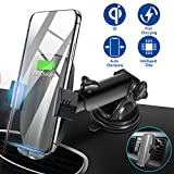 Wireless Car Charger Mount, Automatic Clamping Qi 10W 7.5W Fast Charging Phone Holder Air Vent Dashboard Windshield Compatible iPhone Xs/Xs Max/XR/X/8/8 Plus, Samsung Galaxy S10/S10+/S9/S9+/S8/S8+