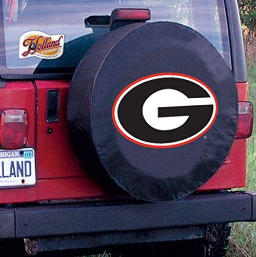 NCAA Georgia Bulldogs Tire Cover (Black,Size H2) ()