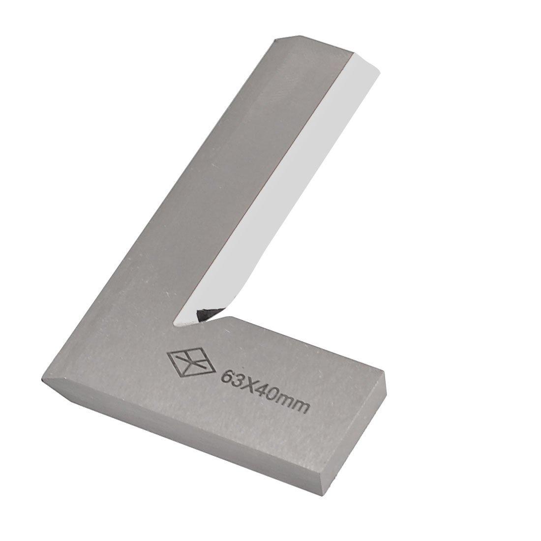 sourcingmap/® 63mm x 40mm de metal en forma de L de 90 grados de /ángulo escuadra de prueba Regla herramienta de medici/ón