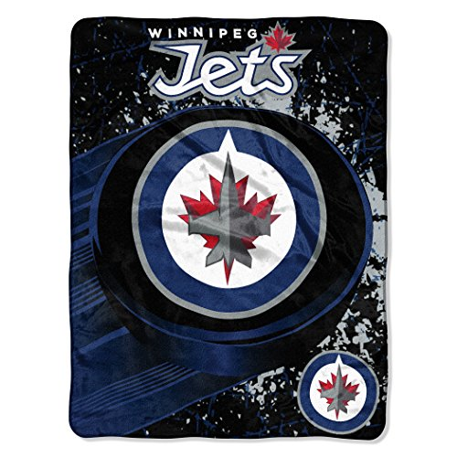 fan products of Winnipeg Jets OFFICIAL National Hockey League, Ice Dash 46x 60 Micro Raschel Throw