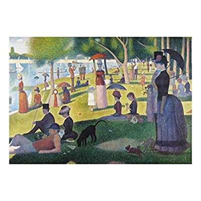 A Sunday Afternoon on The Island of La Grande Jatte by Georges Seurat - French Post-Impressionism - Pointillism - Peel and Stick Large Wall Mural, Removable Wallpaper - 66x96 inches