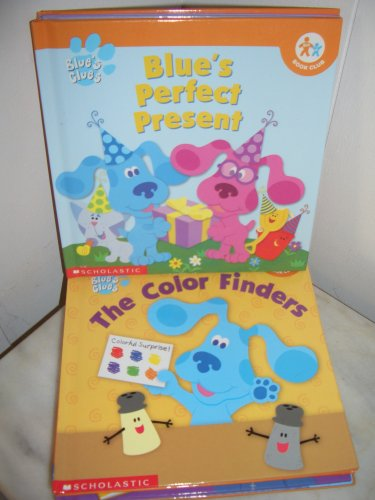 Blue's Clues Children's Books Lot of 9 Blue's Perfect Present, Magenta's Super Sleepover, Abc's, Color Finders, Safari Skidoo, Where Is Polka Dots? Blue's Sharing Surprise, Blue's Backyard Mystery, Blue's Dinosaur - Finder Present Perfect