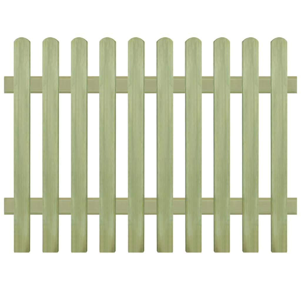 Binzhoueushopping fence-picket recinto con picchetti impregnato pino 170 x 120 cm 6 9 cm