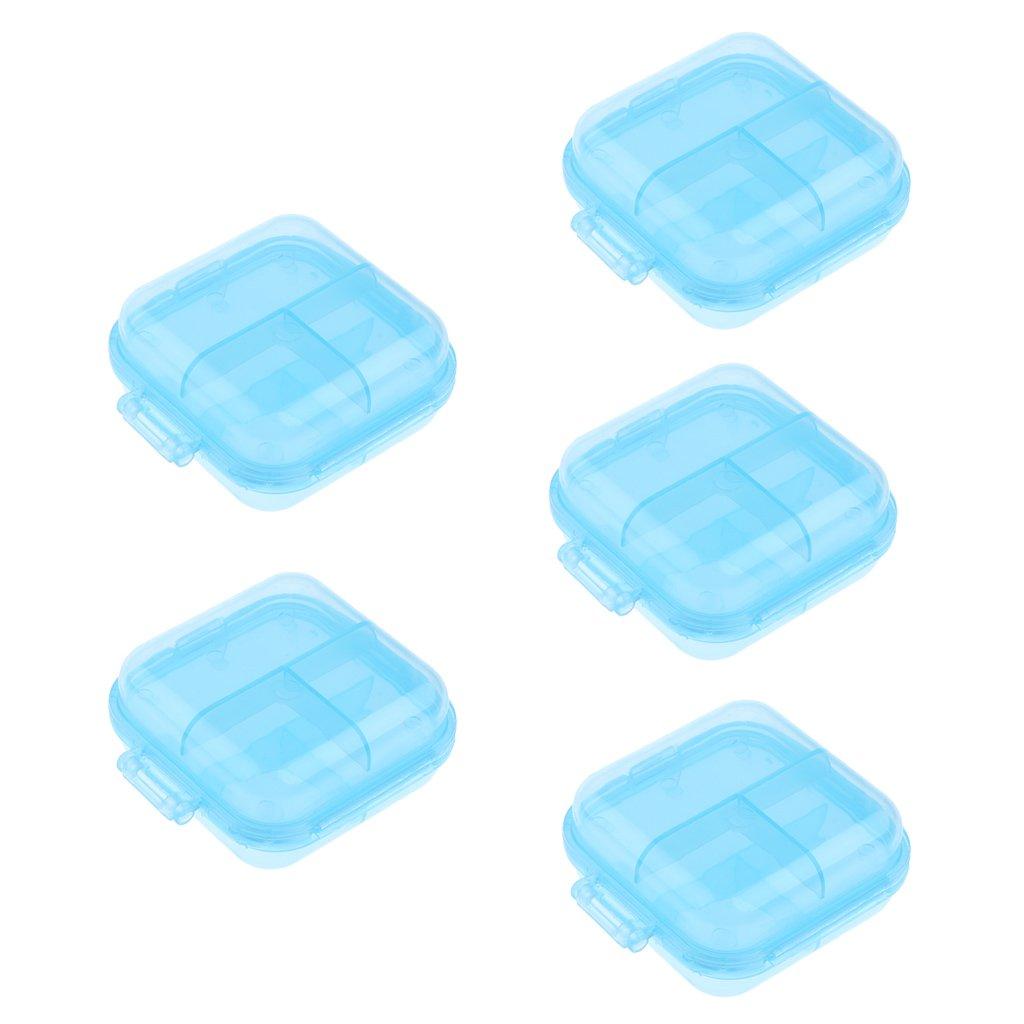 Baoblaze Confezione da 5pcs Contenitore Dispenser per Medicina Pillola Organizzatore - Giallo, Taglia unica