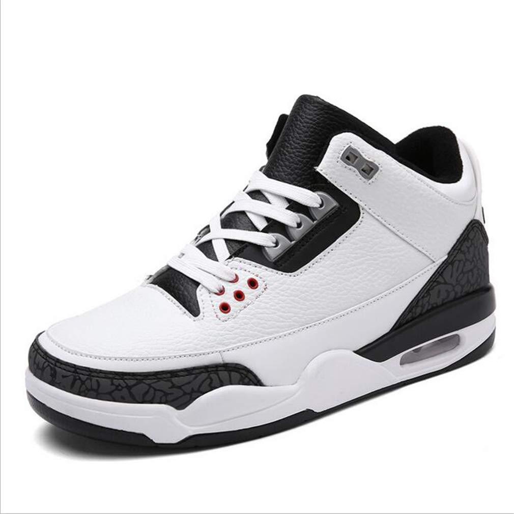 Exing Hommes Chaussures Automne Hiver Baskets/Hommes Grandes Chaussures Dé contracté es Chaussures de Course/Fond é pais Acadé mie Coussin Chaussures De Basket-Ball (Couleur : B, Taille : 39)