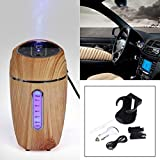 Humidifier,GOODCULLER LED Hot Mini USB Humidifier Air Purifier Freshener Diffuser for Car Office Home Bedroom Living Room Study Yoga Spa - Wood Grain