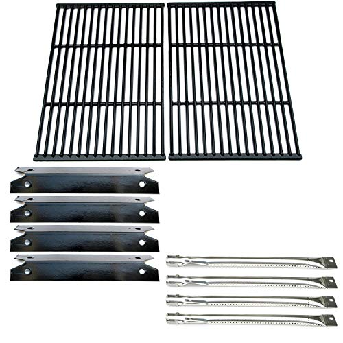 (Direct store Parts Kit DG137 Replacement Charmglow Heavy Duty 810-7400-S Gas Grill 4 Burners, Heat Plates, Cooking Grid )