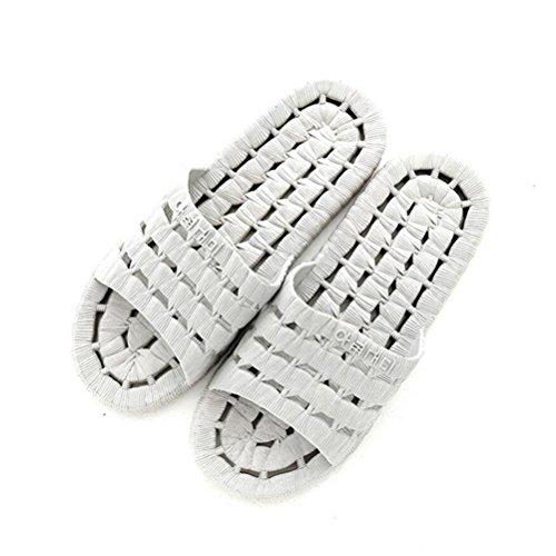 Les gray de hommes des avec bains de pantoufles salle de mode douche pied de thermale de sandale des d'été glissement station et des femmes de massage de de bascules de non AqA6rIwx